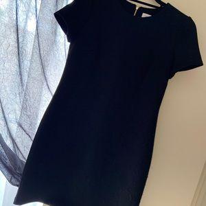 Calvin Klein simple black dress.